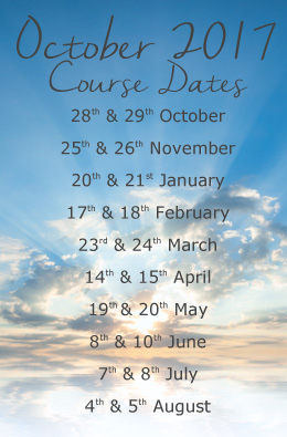 October 2017 Hypnotherapy Training dates