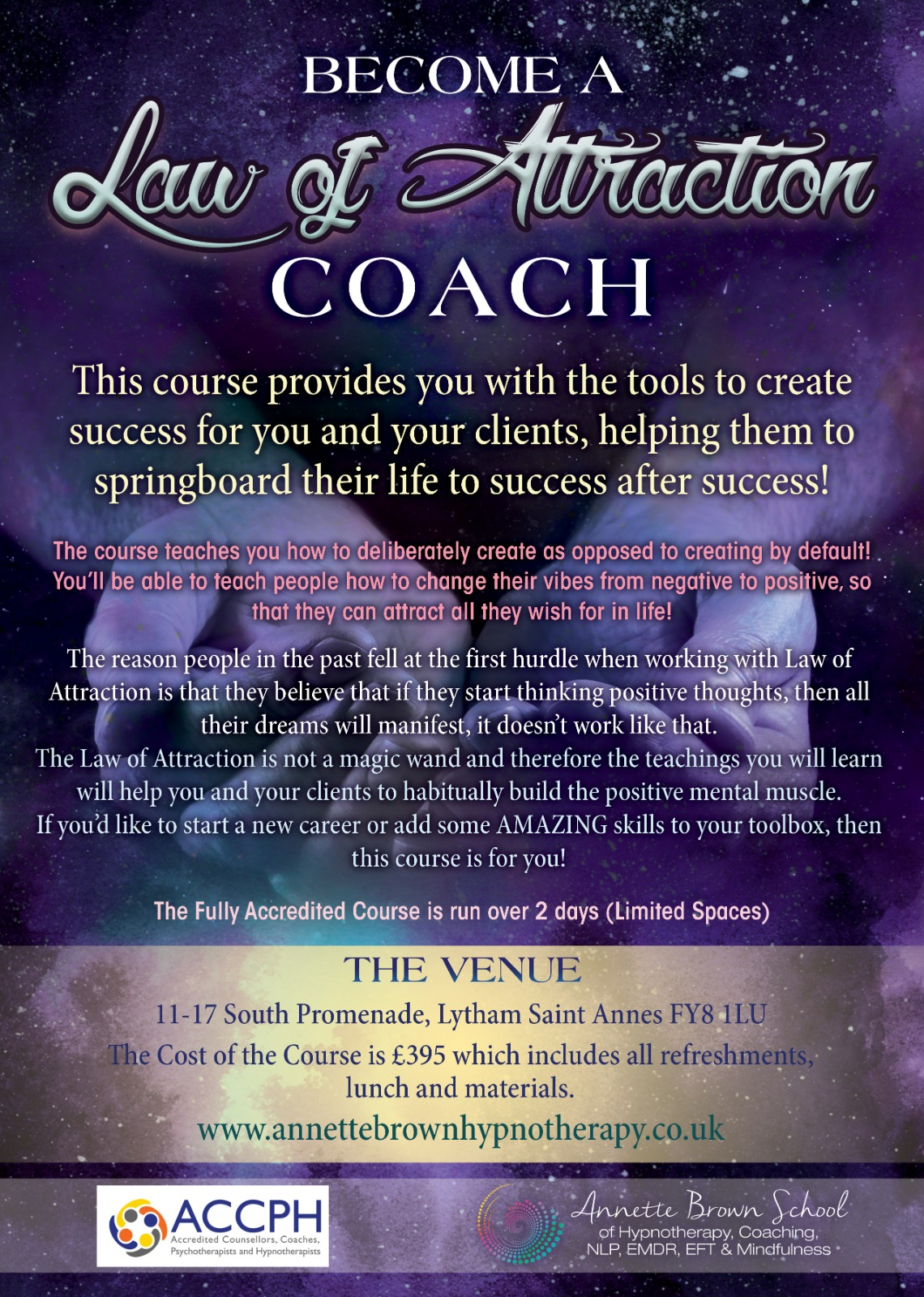 Law of Attraction Coaching Course (2 Day Course)